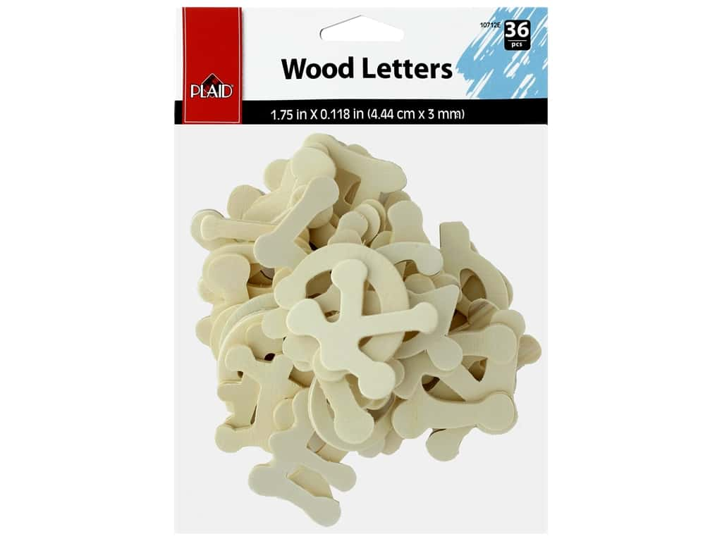Plaid Wood Shape Letters Dot To Dot 36 pc
