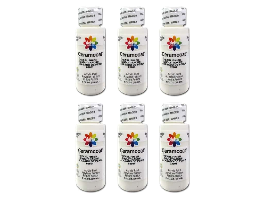 Delta Ceramcoat Acrylic Paint 2 oz. #2601 Pearl Finish (6 pack)