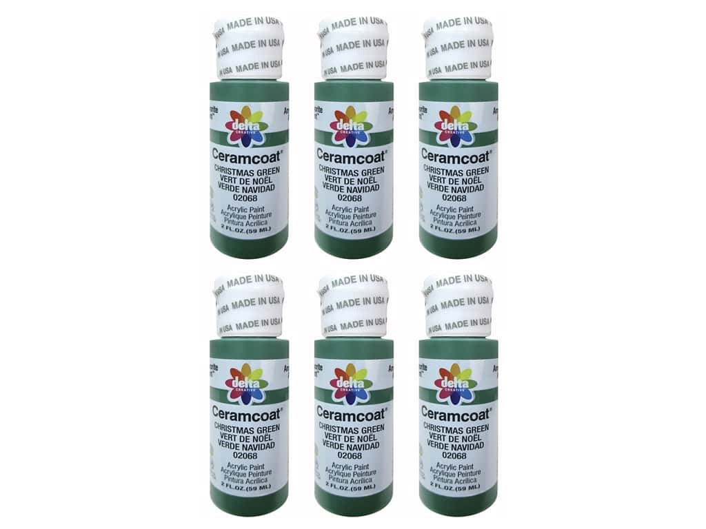 Delta Ceramcoat Acrylic Paint 2 oz. #2068 Christmas Green (6 pack)