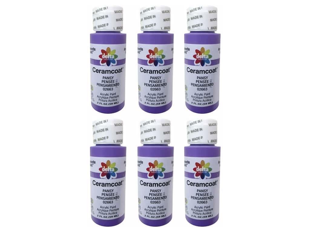 Delta Ceramcoat Acrylic Paint 2 oz. #2663 Pansy (6 pack)