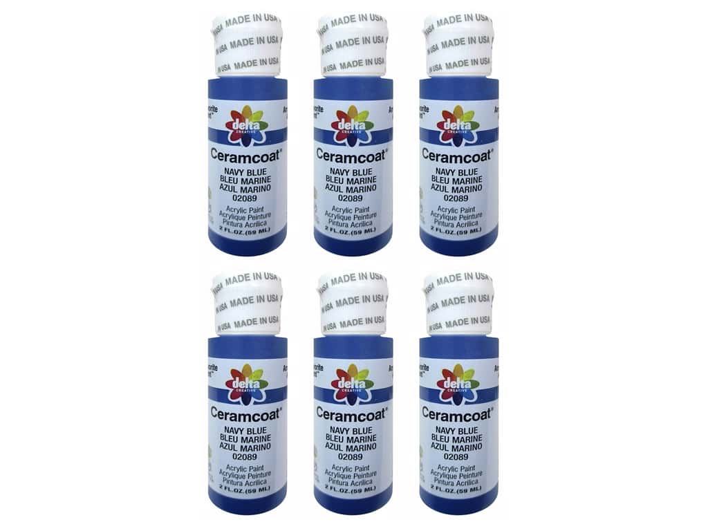 Delta Ceramcoat Acrylic Paint 2 oz. #2089 Navy Blue (6 pack)