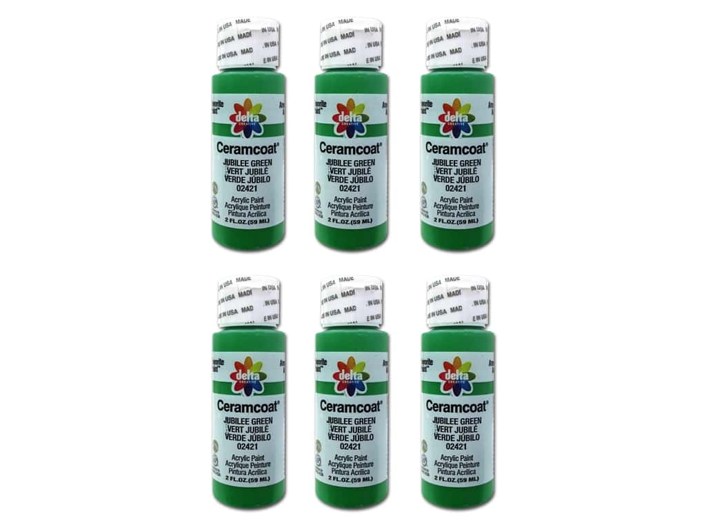 Delta Ceramcoat Acrylic Paint 2 oz. #2421 Jubilee Green (6 pack)