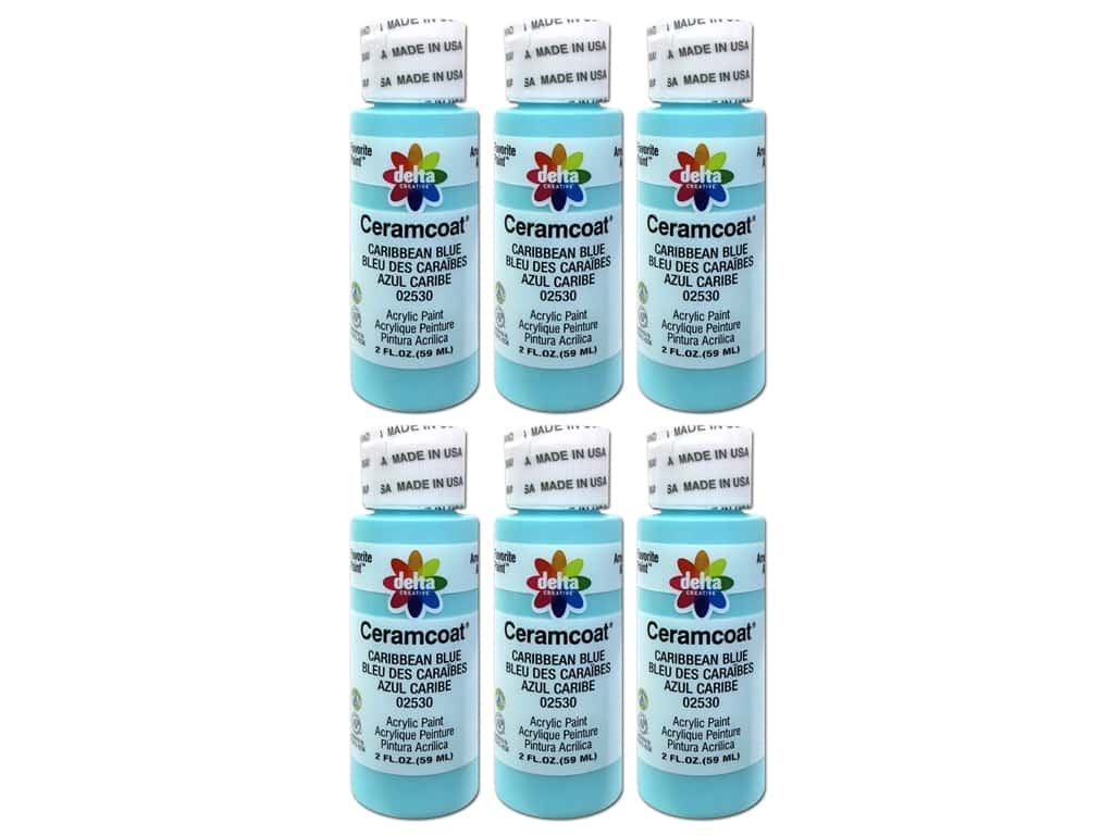 Delta Ceramcoat Acrylic Paint 2 oz. #2530 Caribbean Blue (6 pack)