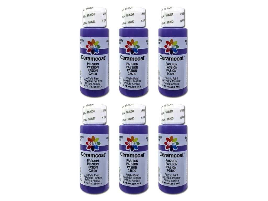 Delta Ceramcoat Acrylic Paint 2 oz. #2590 Passion (6 pack)