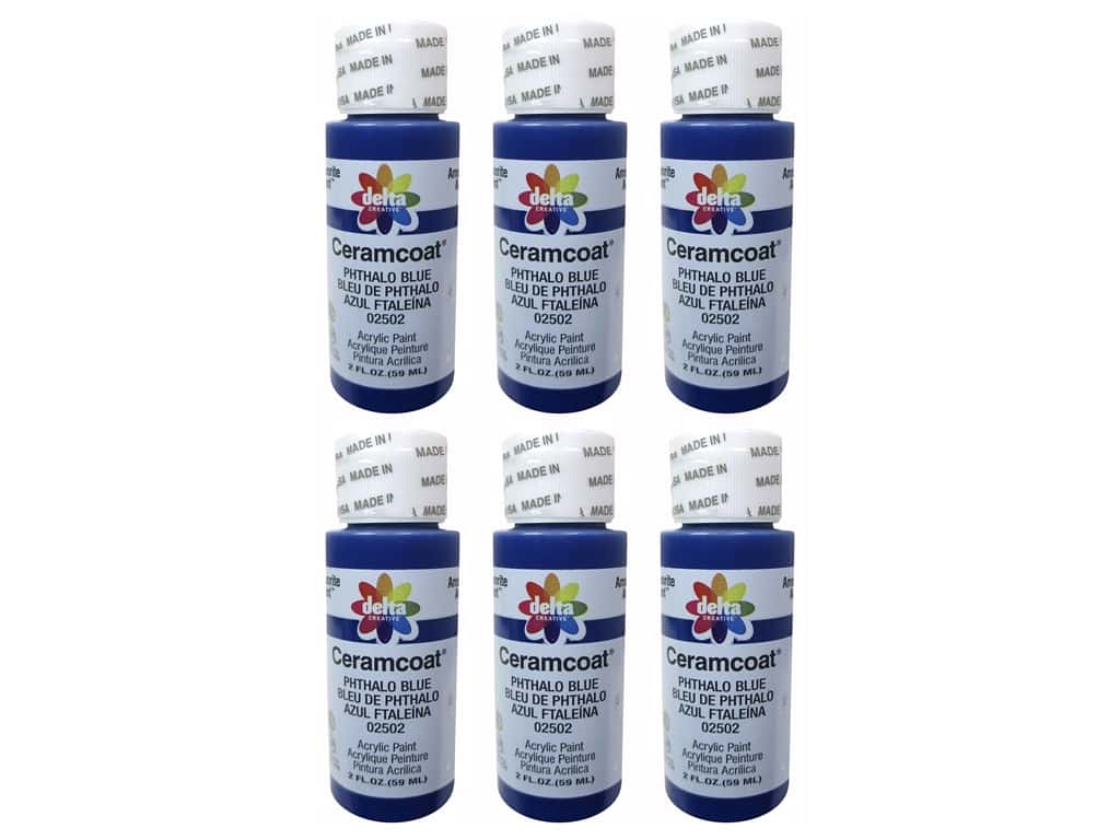 Delta Ceramcoat Acrylic Paint 2 oz. #2502 Phthalo Blue (6 pack)