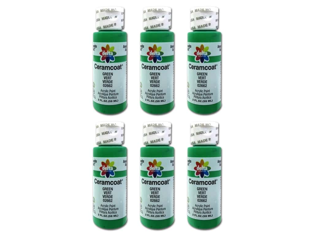 Delta Ceramcoat Acrylic Paint 2 oz. #2662 Green (6 pack)