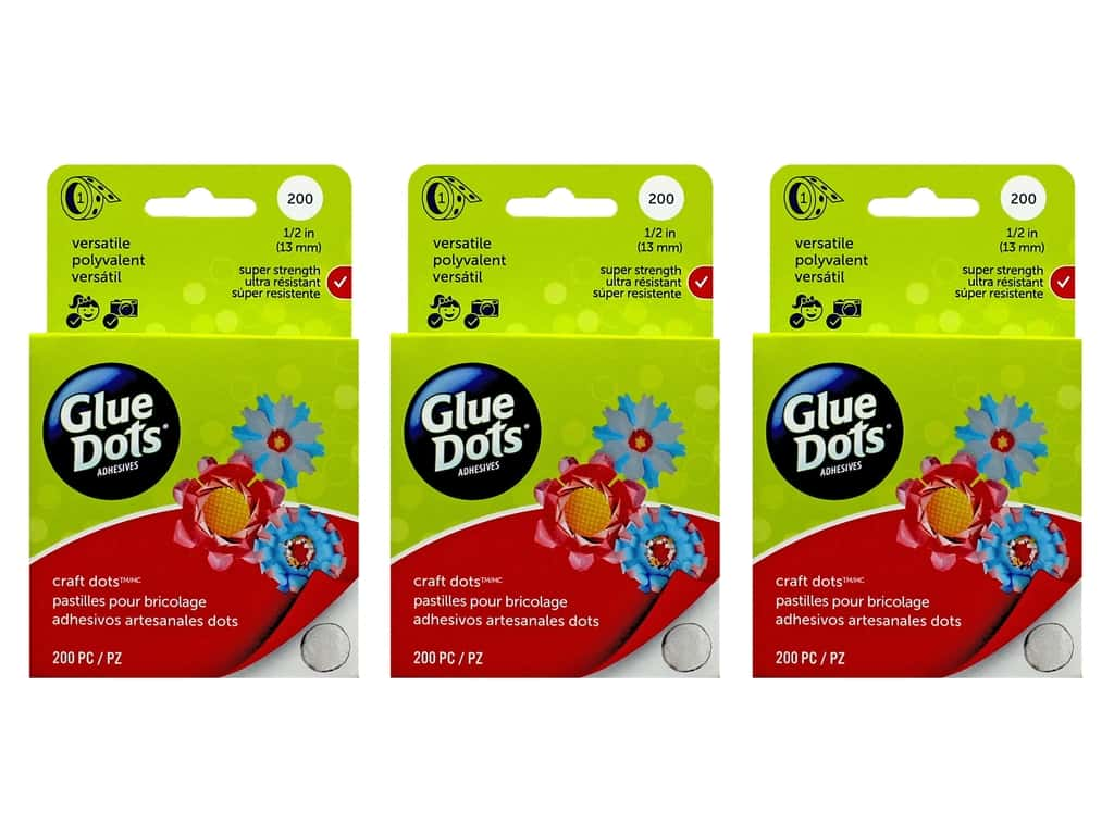Glue Dots Ultra Thin 3/8 in. Box 300 pc 3 packs