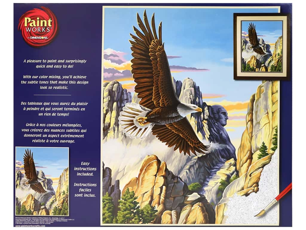 Paintworks Paint By Number Kit 16 x 20 in. Soaring Eagle