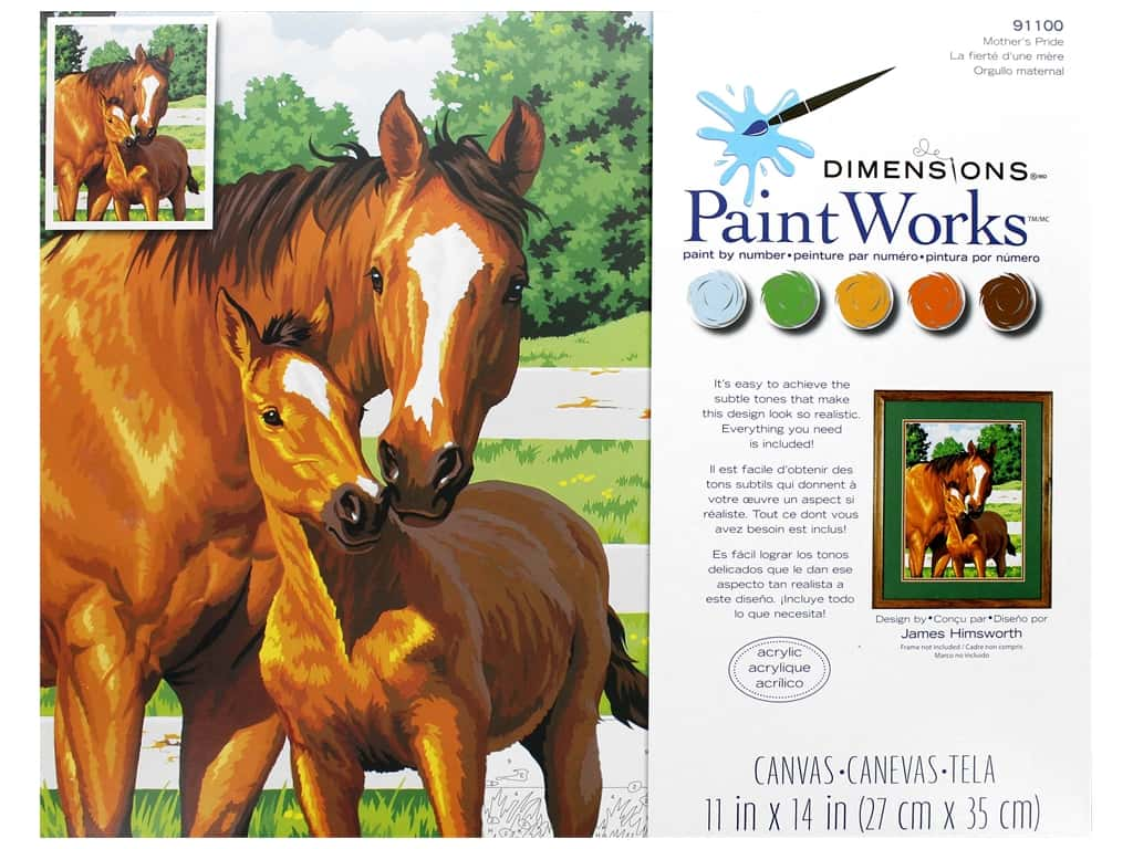 Paint Works Paint By Number Kit 11 x 14 in. Mothers Pride
