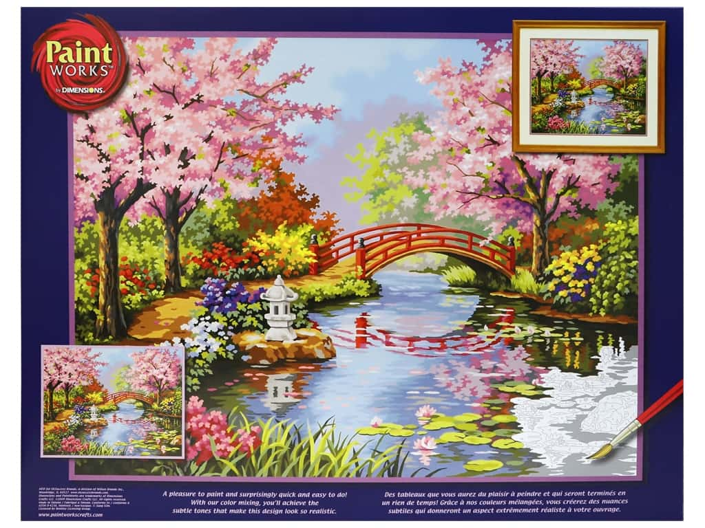 Paint Works Paint By Number Kit 20 in. x 16 in. Japanese Garden (2 kits)