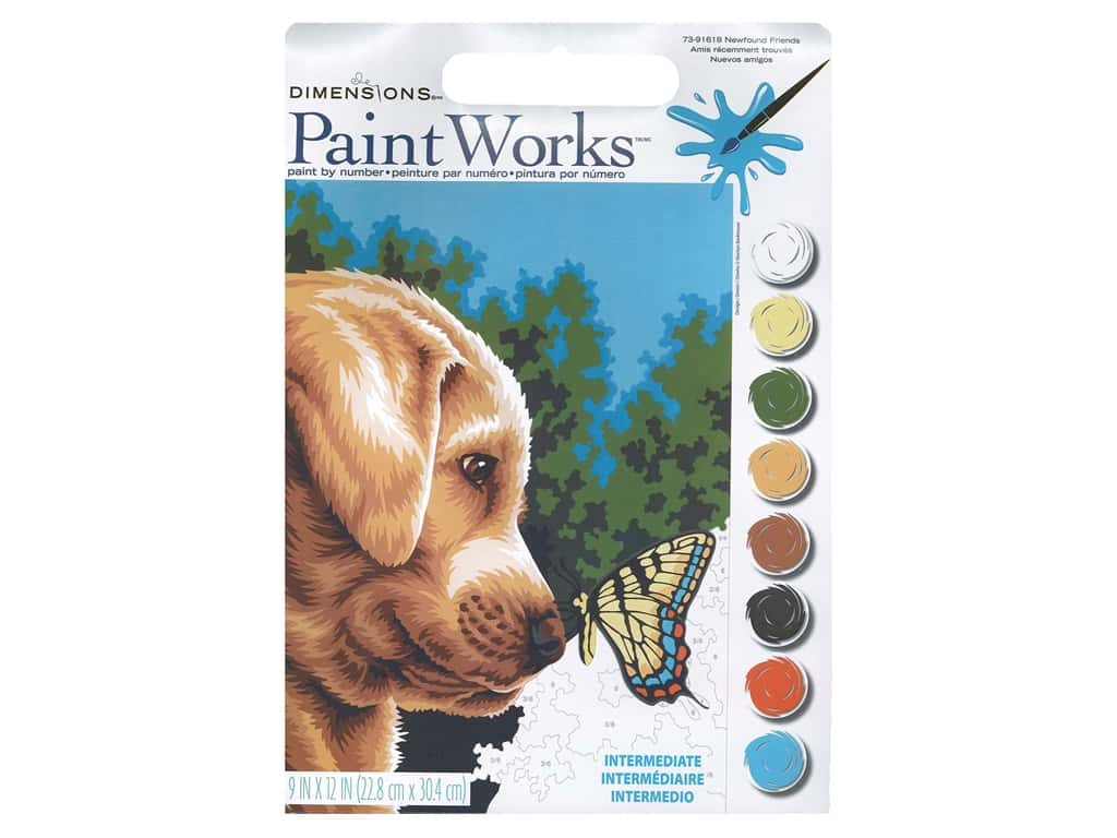 Paintworks Paint By Number Kit 9 x 12 in. Newfound Friends