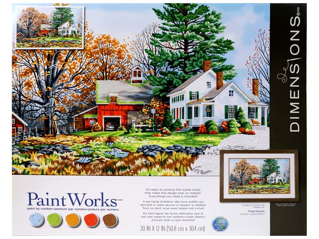 Paintworks Paint By Number Kit 20 x 12 in. Precious Days