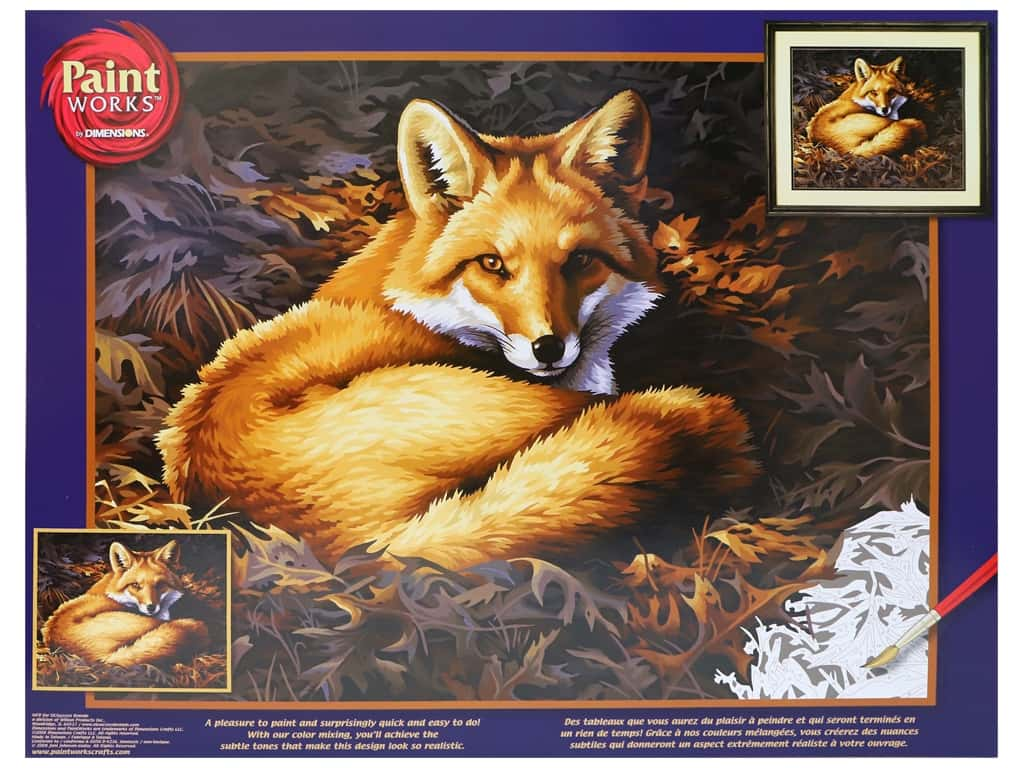 Paint Works Paint By Number Kit 20 in. x 16 in. Sunlit Fox