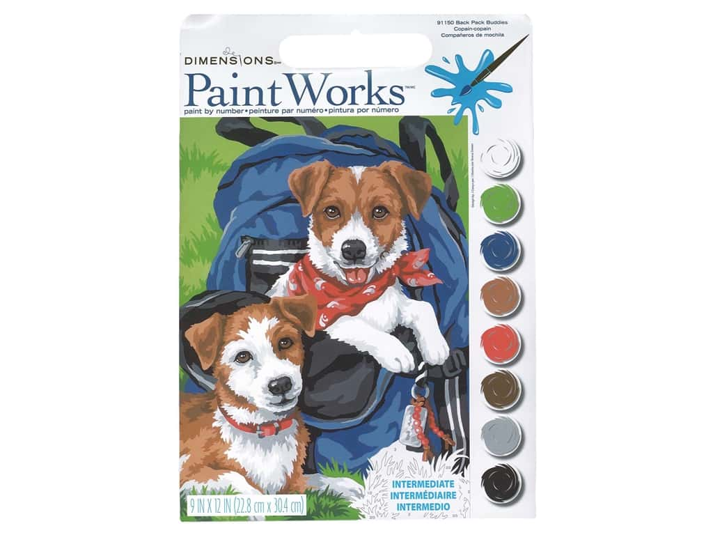 Paintworks Paint By Number Kit 9 x 12 in. Back Pack Buddies