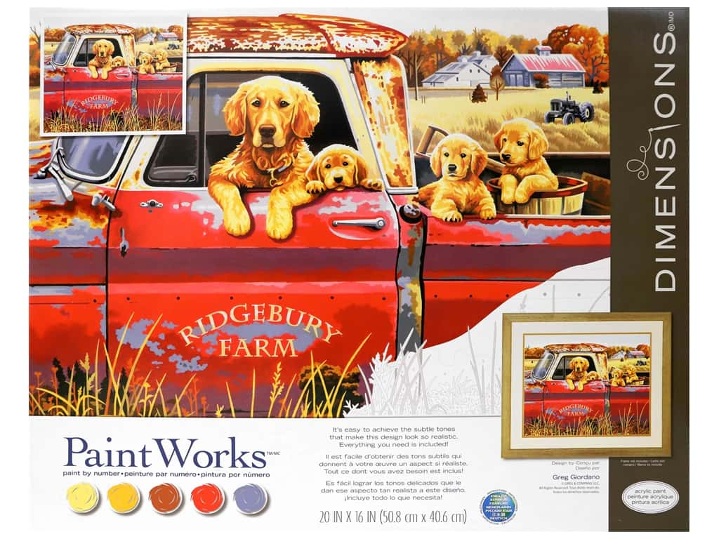 Paint Works Paint By Number Kit 20 x 16 in. Golden Ride