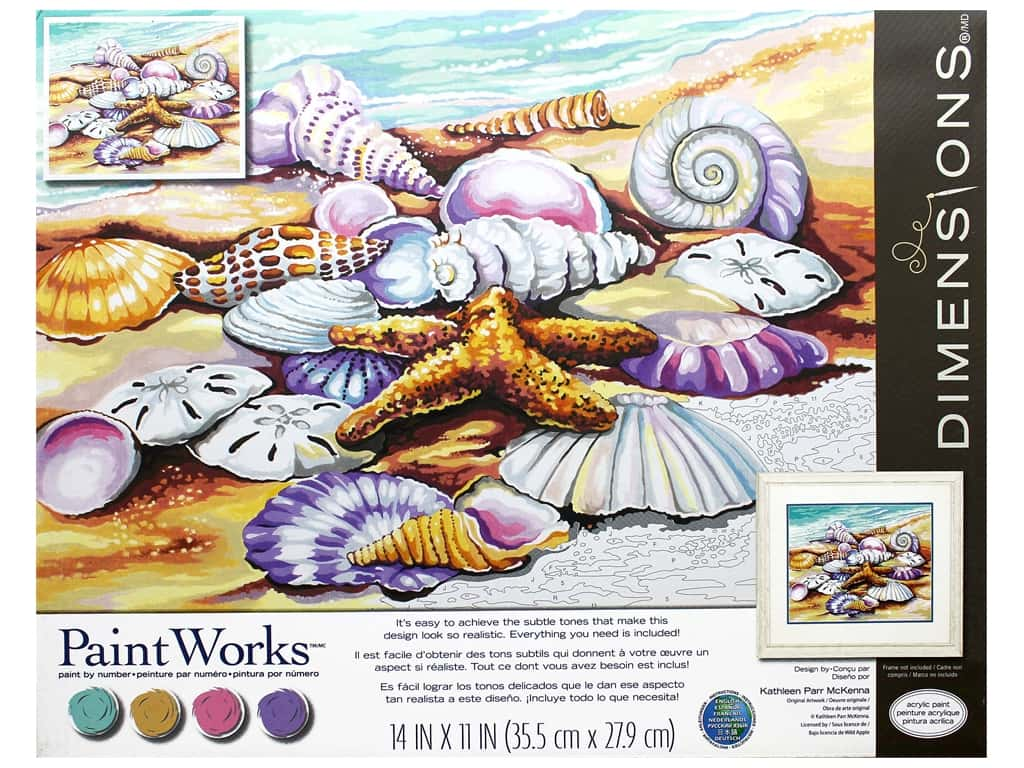 Paintworks Paint By Number Kit 14 x 11 in. Shells