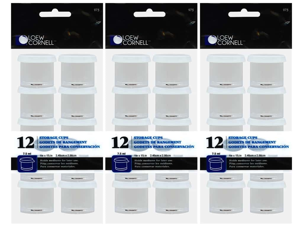 Loew Cornell Tool Storage Cup 1 in. 3 Packs of 12 pc