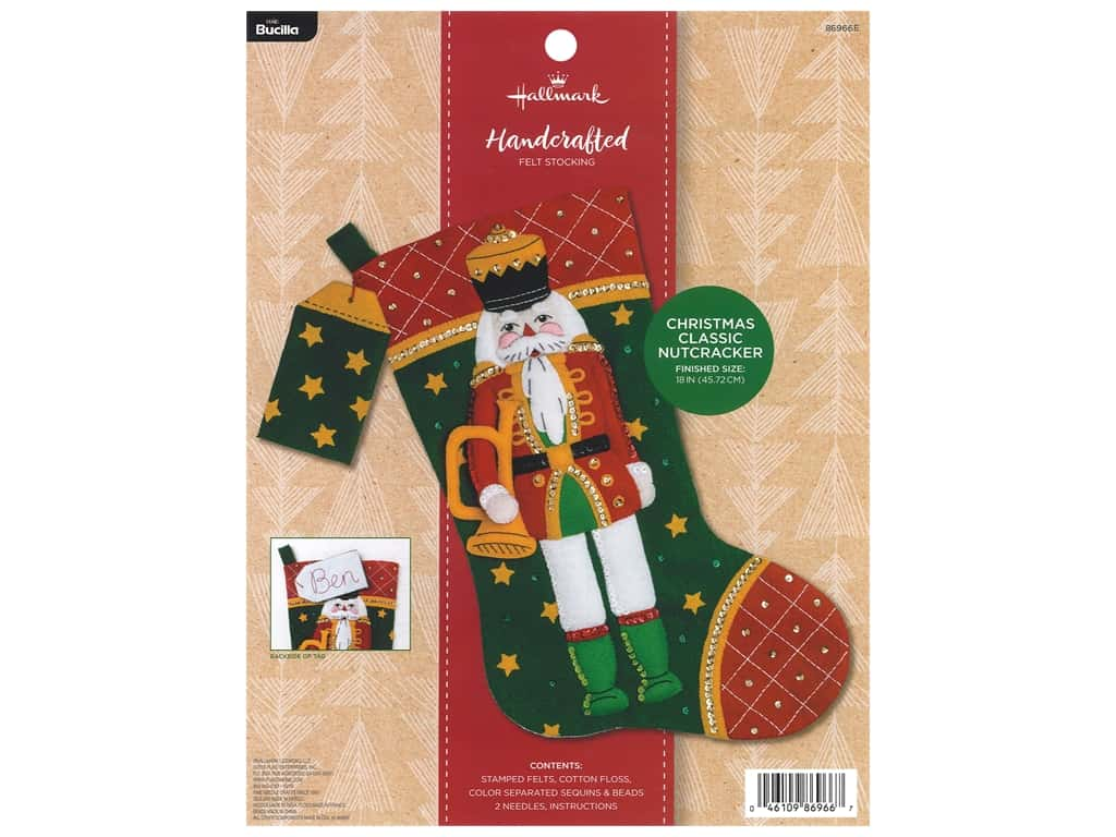 Bucilla Felt Kit Hallmark Classic Nutcracker Stocking