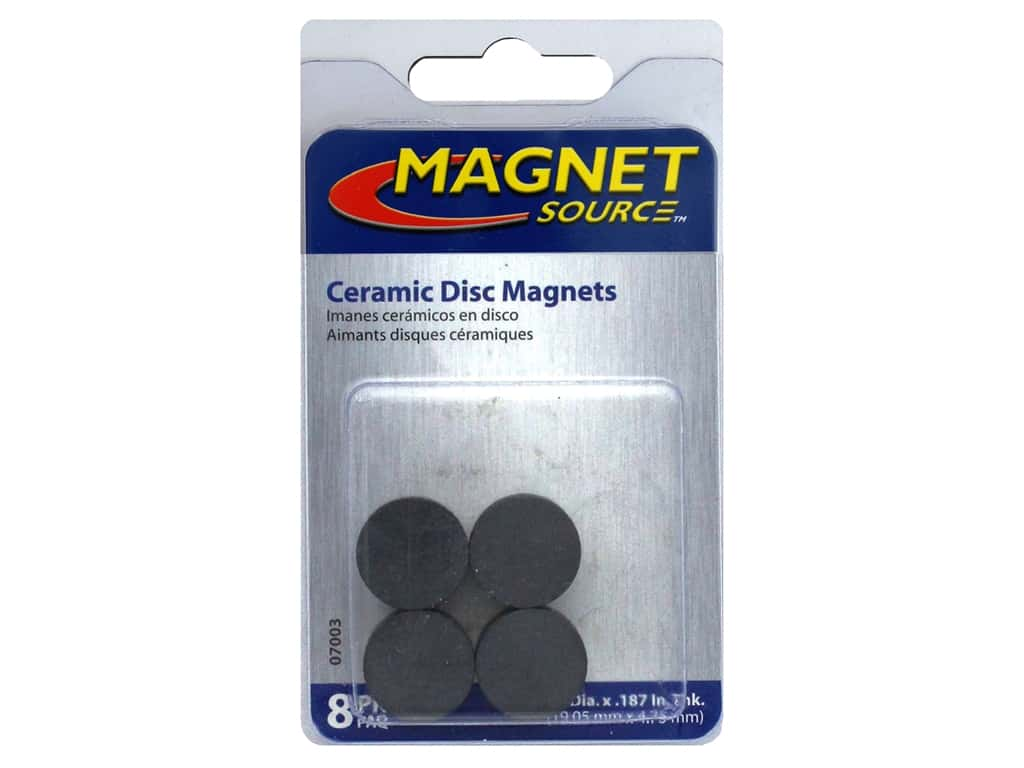 The Magnet Source Ceramic Disc Magnets 3/4 in. 8 pc.