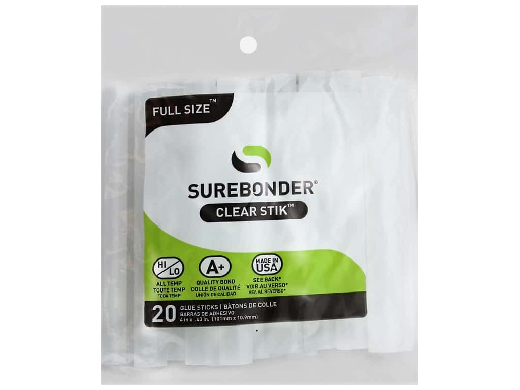 Surebonder MultiTemp Hot Glue Stick Mini 4 in. 20 pc.