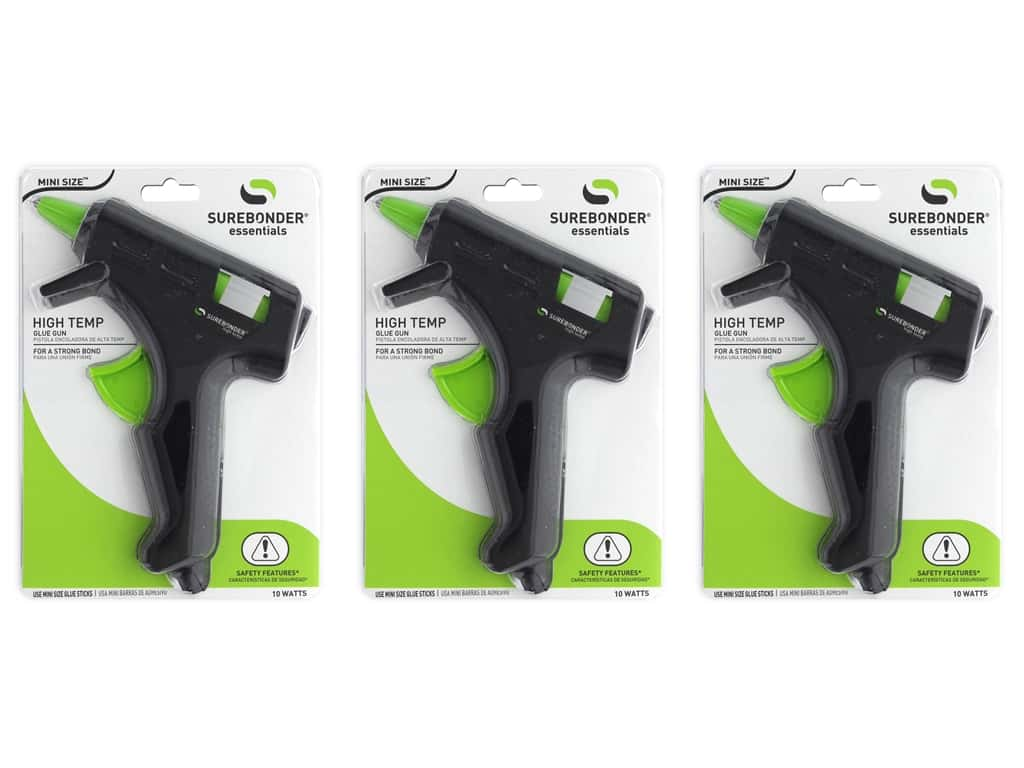 Surebonder Glue Gun Mini High Temp 10 Watt 3pc