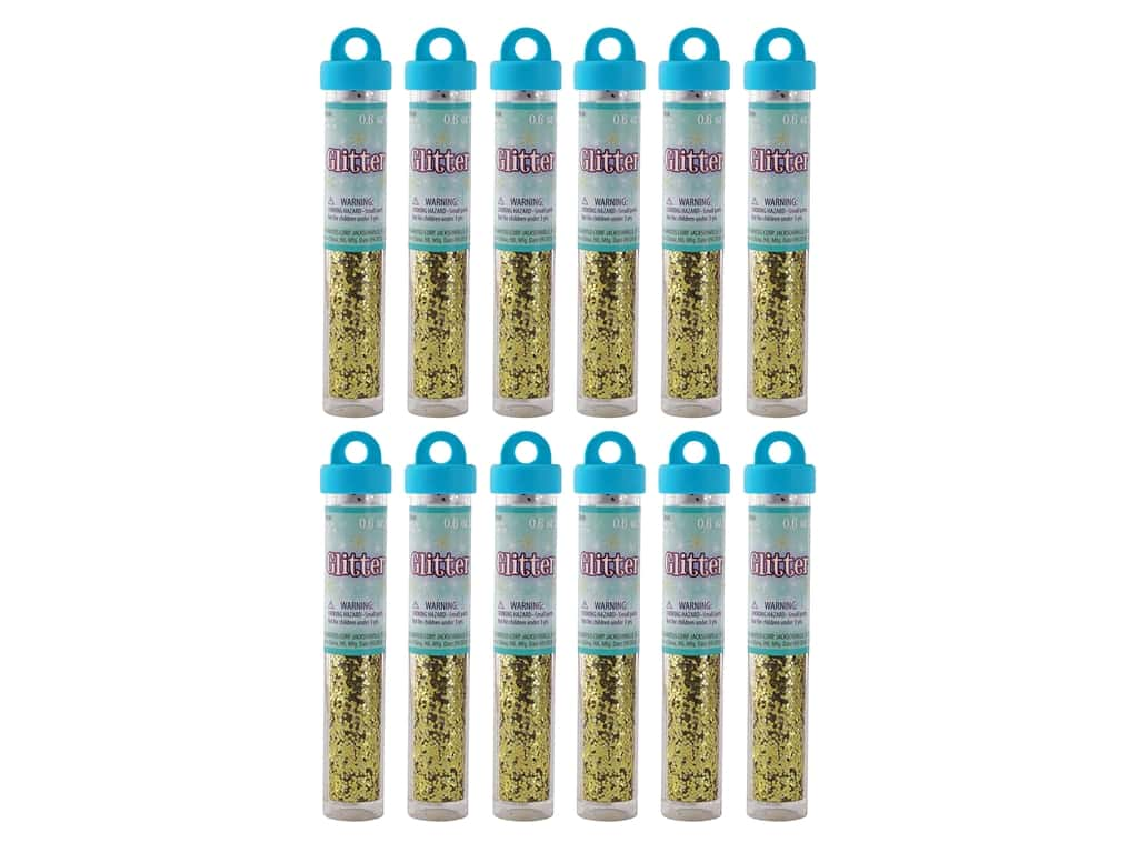 Sulyn Glitter .6oz Tube Gold 12pc