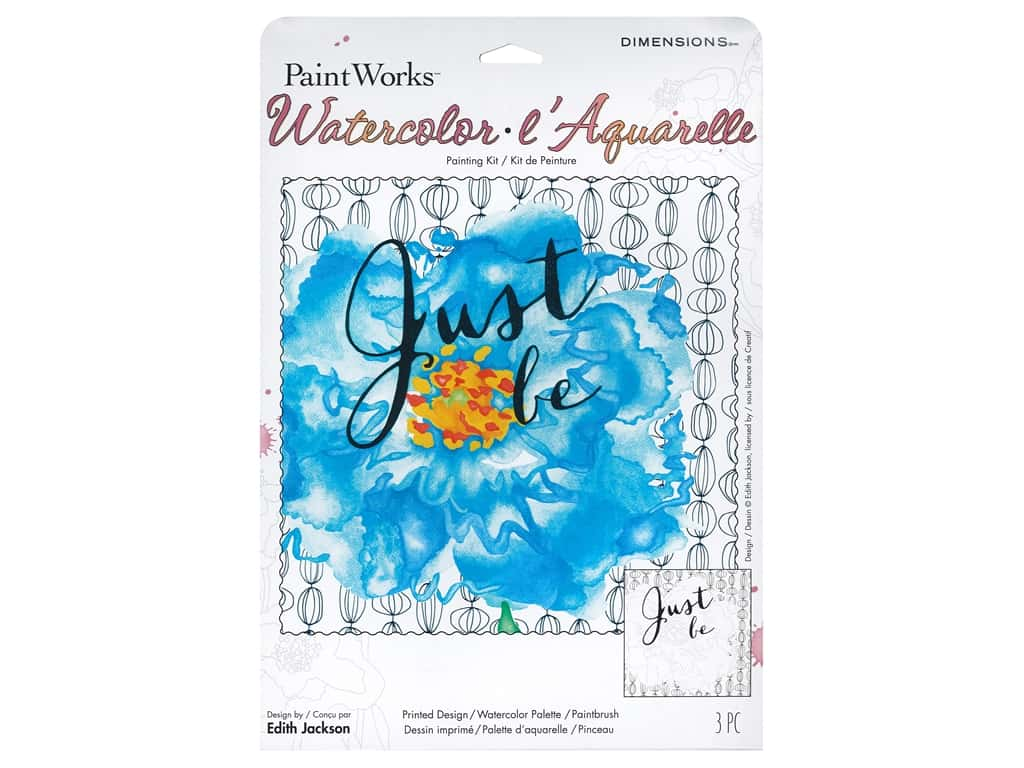 Paint Works Watercolor Painting Kit 9 in. x 12 in. Just Be