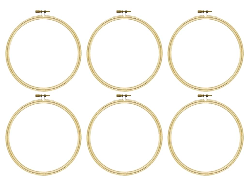Darice Wood Embroidery Hoop 6 in. (6 pack)