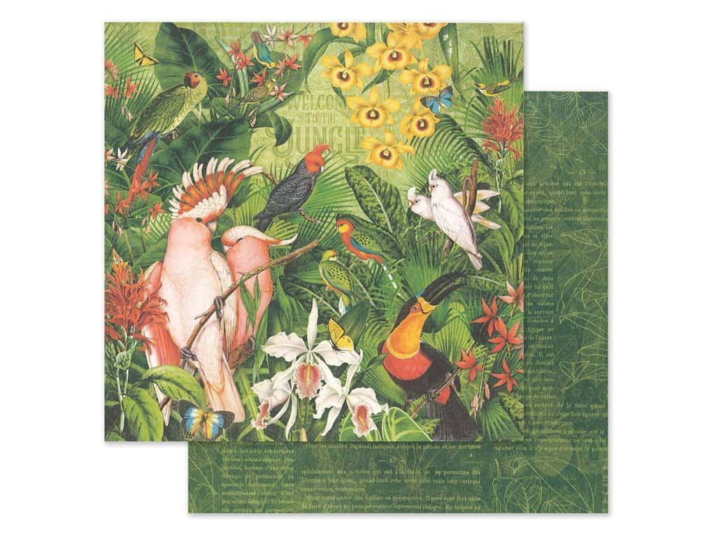 Graphic 45 Lost In Paradise Paper 12 in. x 12 in. Welcome To The Jungle (25 pieces)