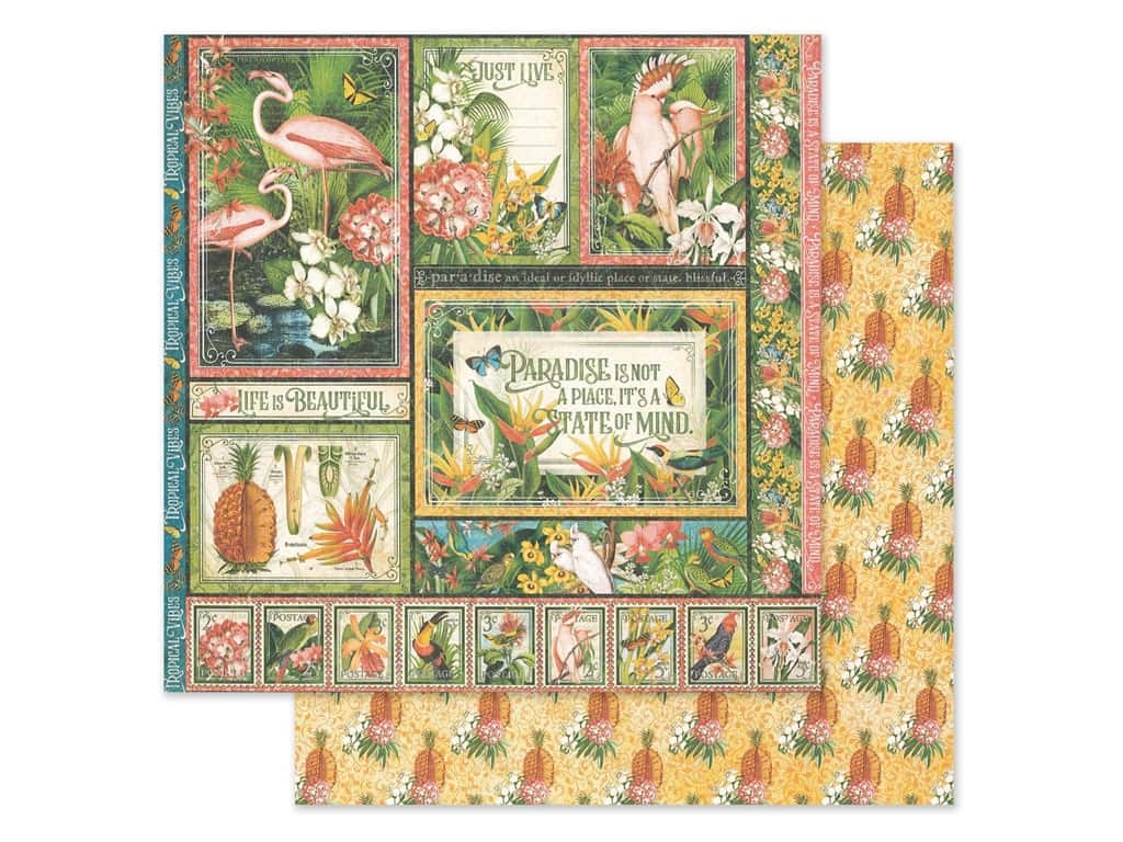 Graphic 45 Lost In Paradise Paper 12 in. x 12 in. Exotic Panorama (25 pieces)