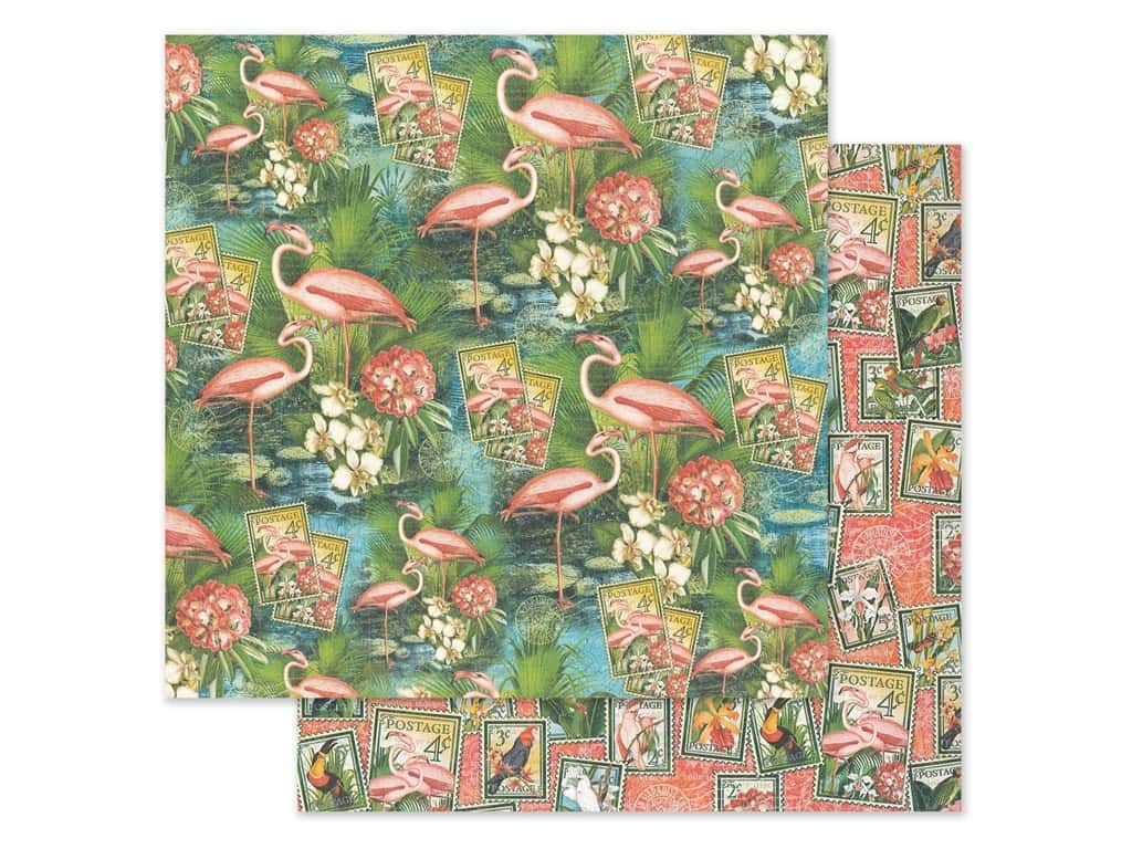Graphic 45 Lost In Paradise Paper 12 in. x 12 in. Flamingo Lagoon (25 pieces)