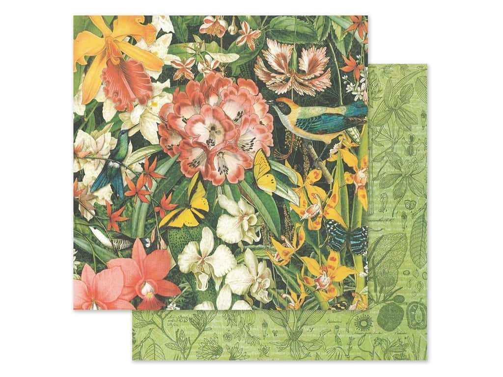 Graphic 45 Lost In Paradise Paper 12 in. x 12 in. Resplendent Plumage (25 pieces)