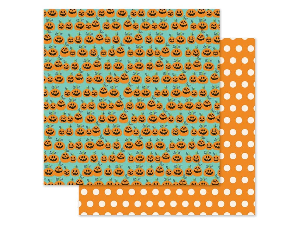 Simple Stories Collection Say Cheese Halloween Paper 12 in. x 12 in. Hey Pumpkin (25 pieces)