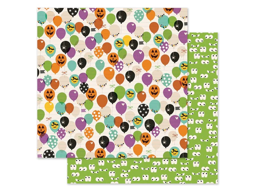 Simple Stories Collection Say Cheese Halloween Paper 12 in. x 12 in. FaBOOlous (25 pieces)