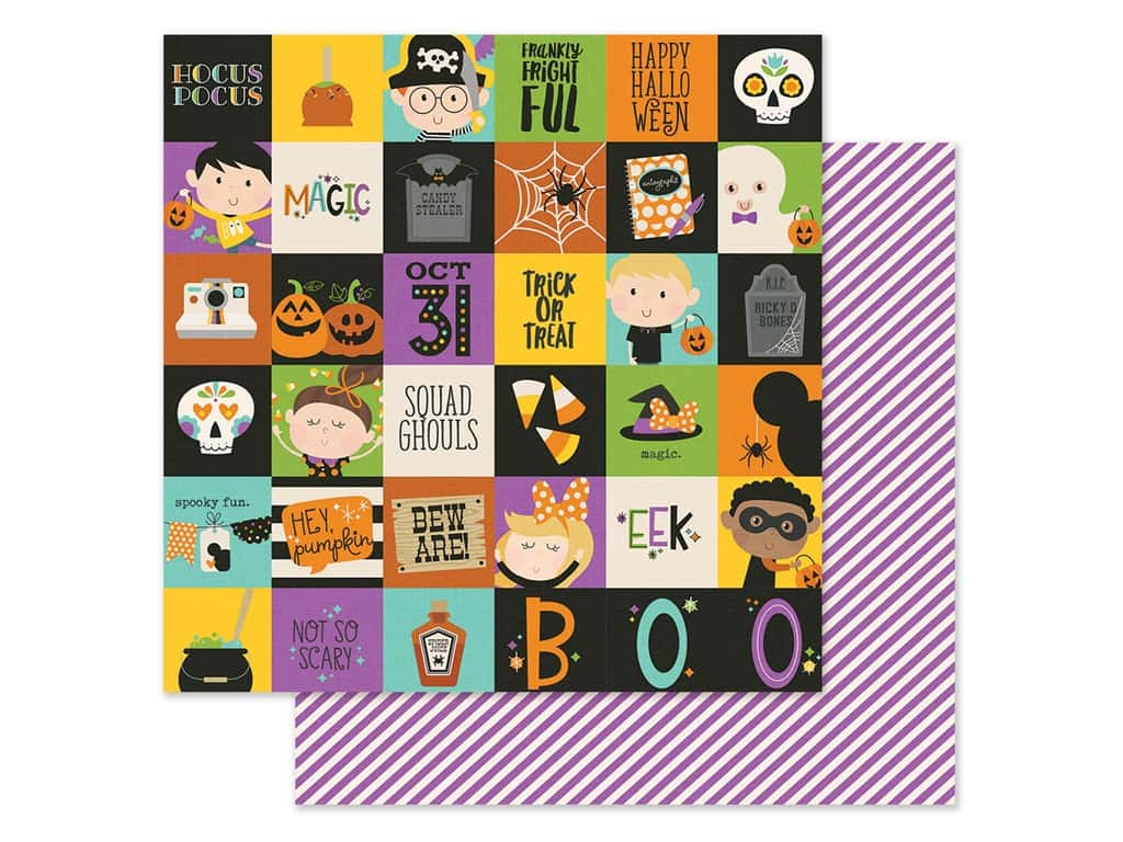 Simple Stories Collection Say Cheese Halloween Paper 12 in. x 12 in. Elements 2 in. x 2 in. (25 pieces)
