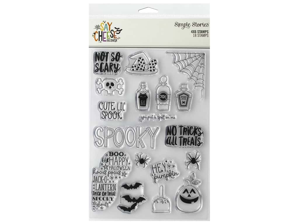 Simple Stories Collection Say Cheese Halloween Stamp 4 in. x 6 in.