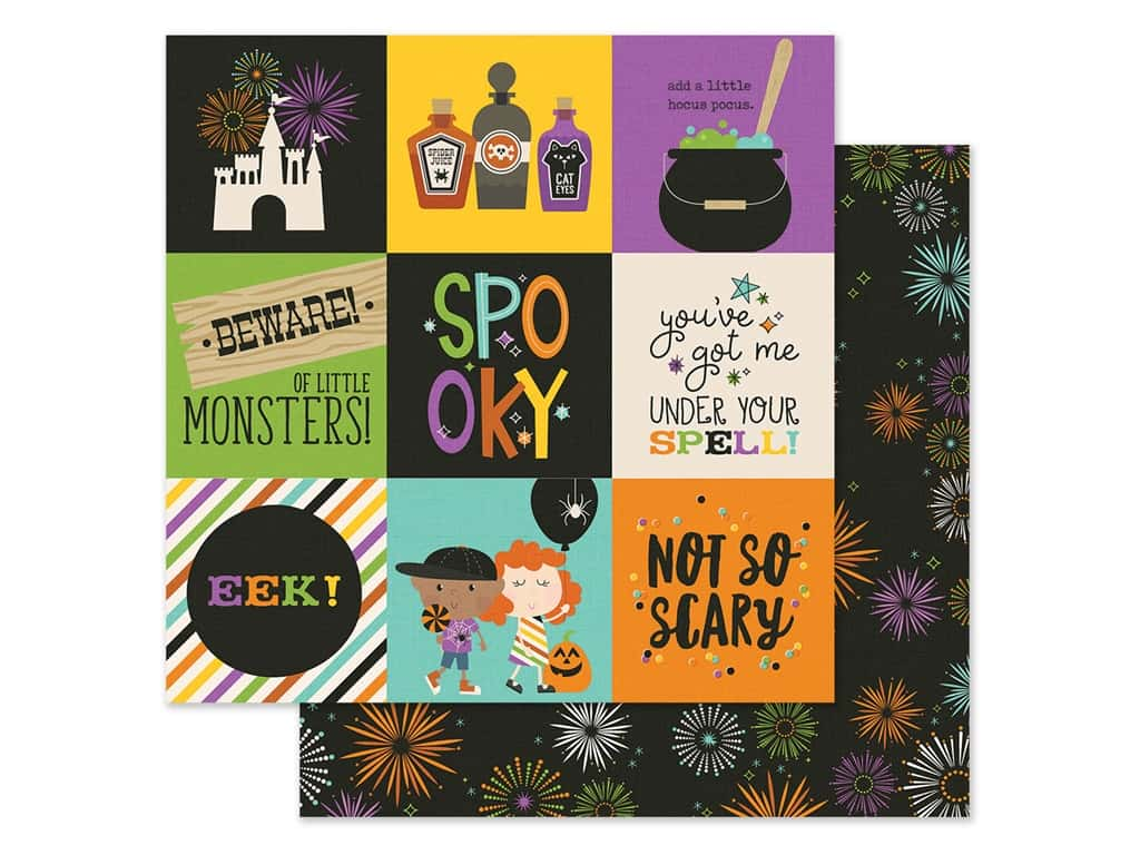 Simple Stories Collection Say Cheese Halloween Paper 12 in. x 12 in. Elements 4 in. x 4 in. (25 pieces)