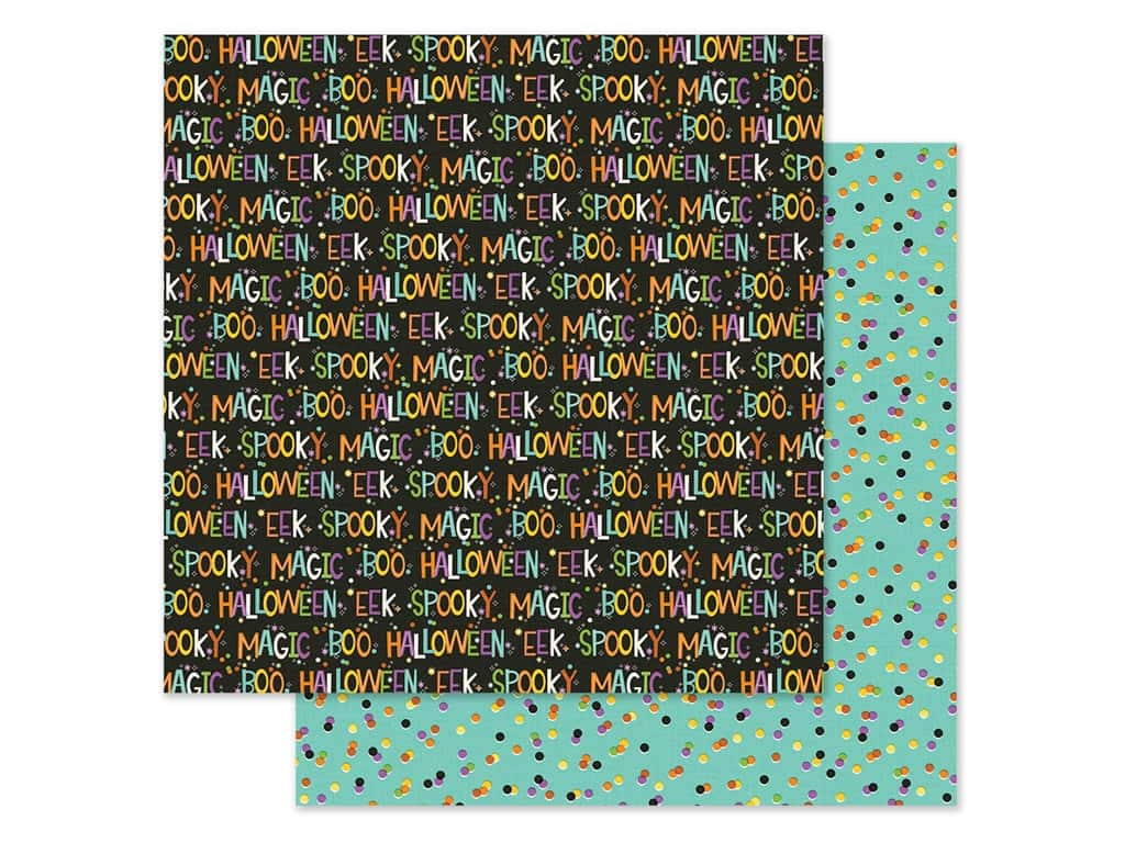 Simple Stories Collection Say Cheese Halloween Paper 12 in. x 12 in. Not So Scary (25 pieces)
