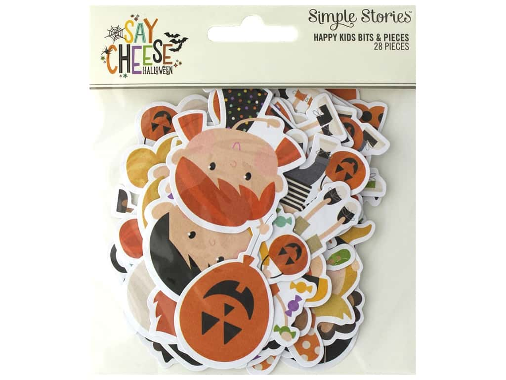 Simple Stories Collection Say Cheese Halloween Bits & Pieces Happy Kids