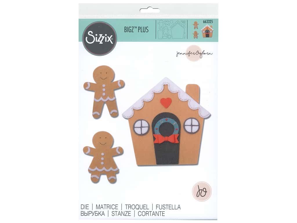 Sizzix Jennifer Ogborn Bigz Plus Die Gingerbread House