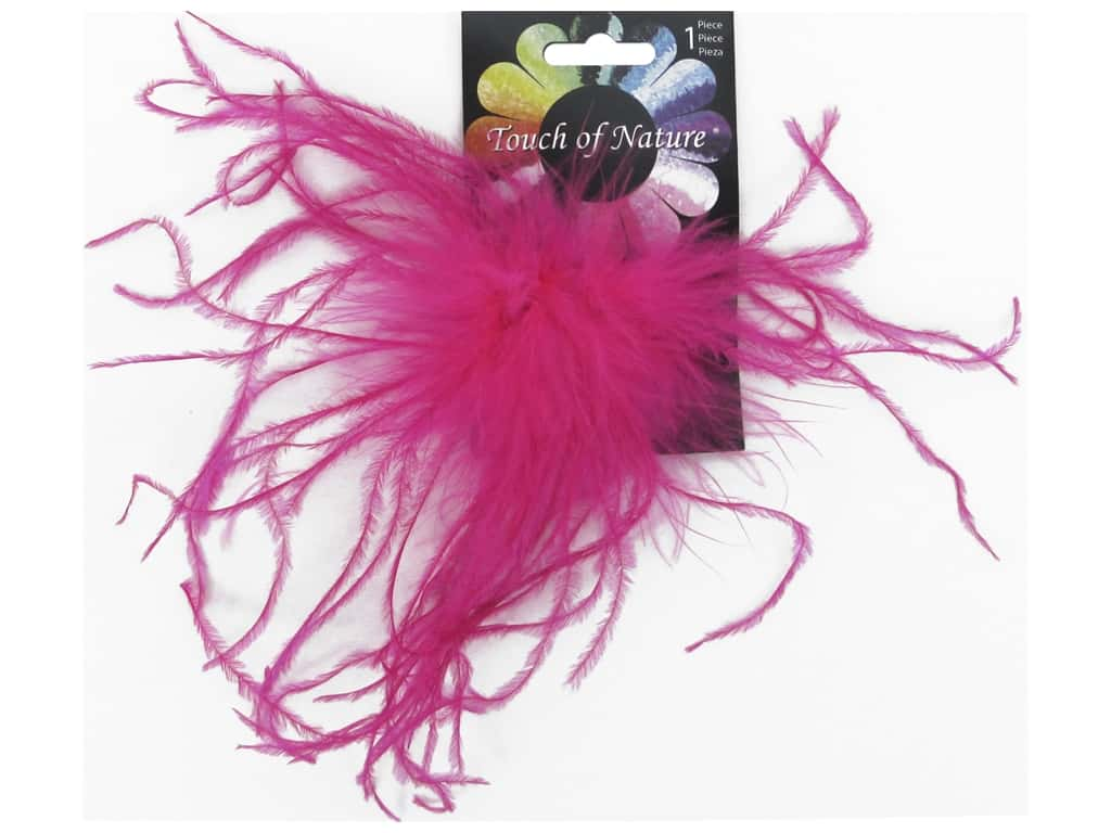 Midwest Design Clip Ostrich Fluffy 4 in. Hot Pink