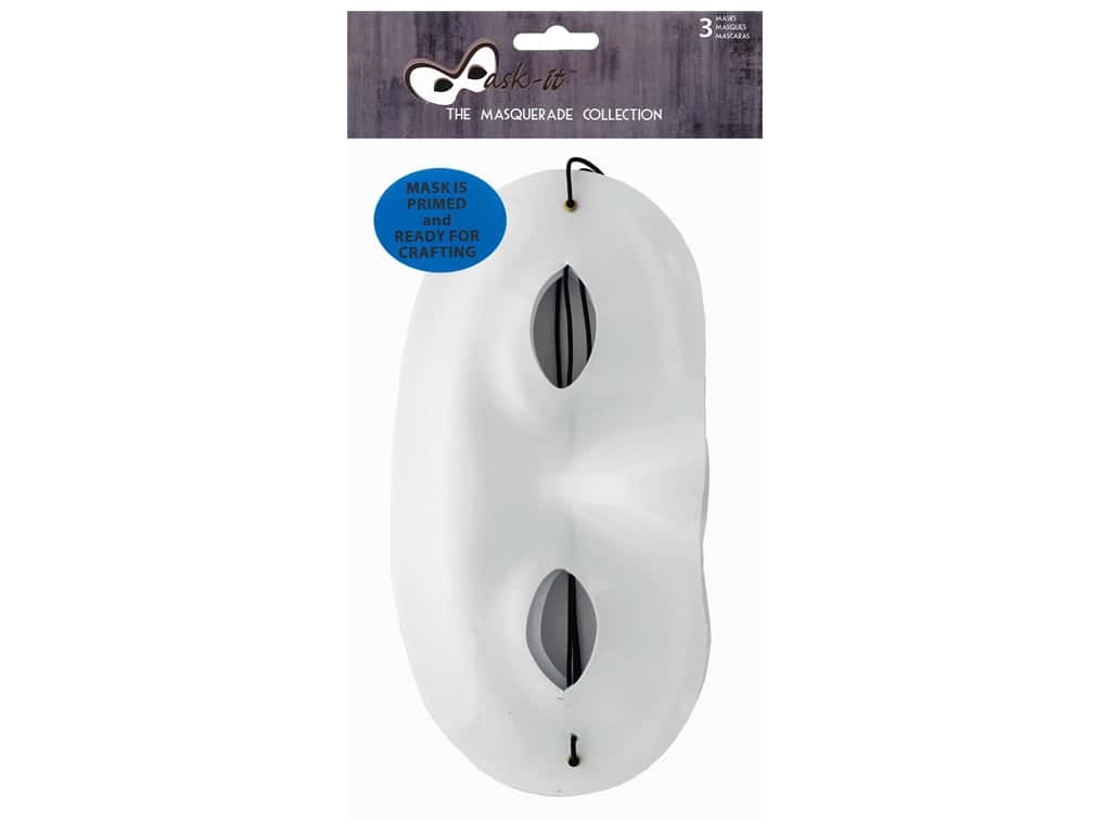 Midwest Design Mask It Mask 7.5 in. x 3.75 in. White 3 pc