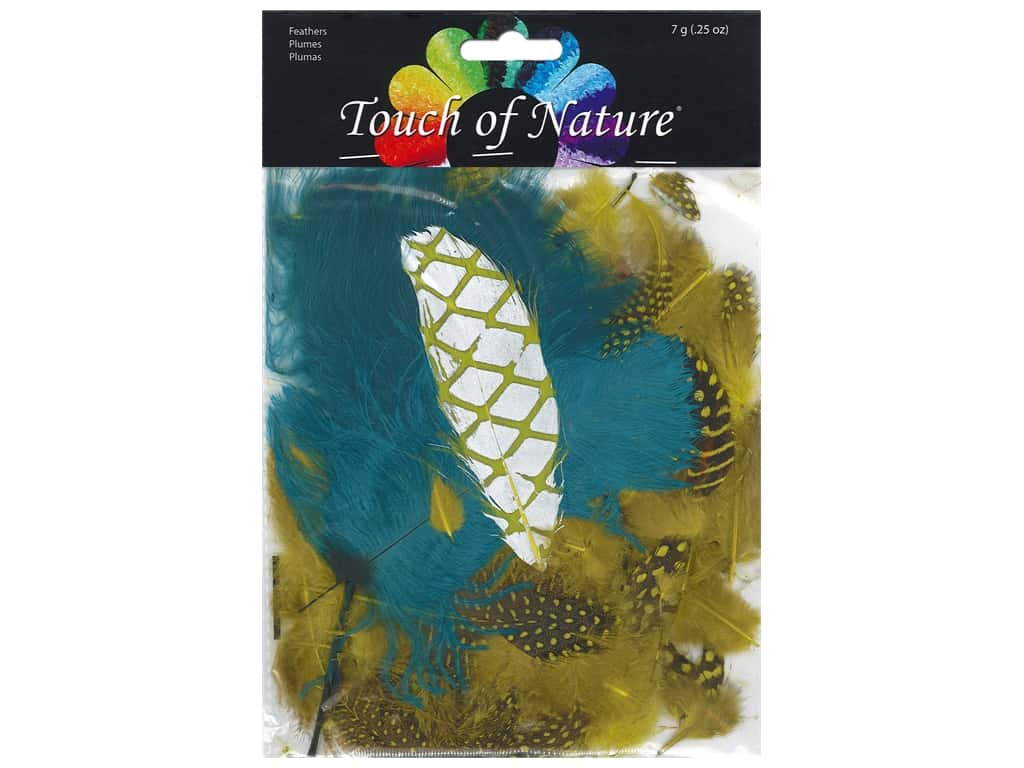 Midwest Design Feather 7 gm Assorted Teal/Natural/Chartreuse