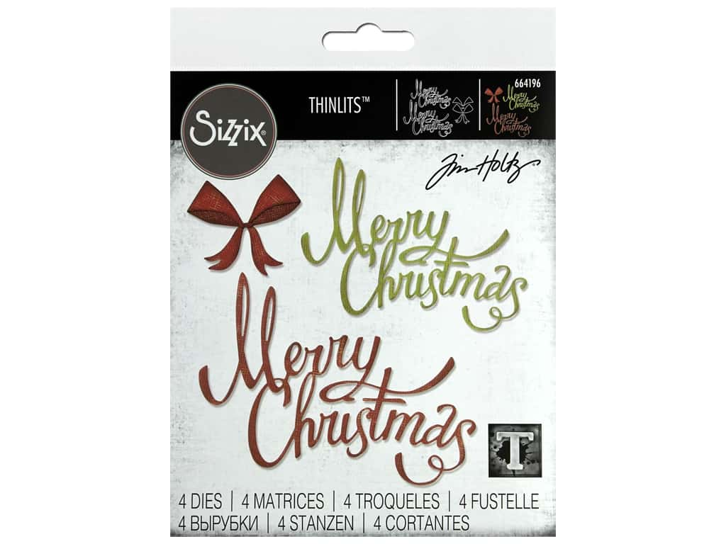 Sizzix Dies Tim Holtz Thinlits Christmas Ribbon