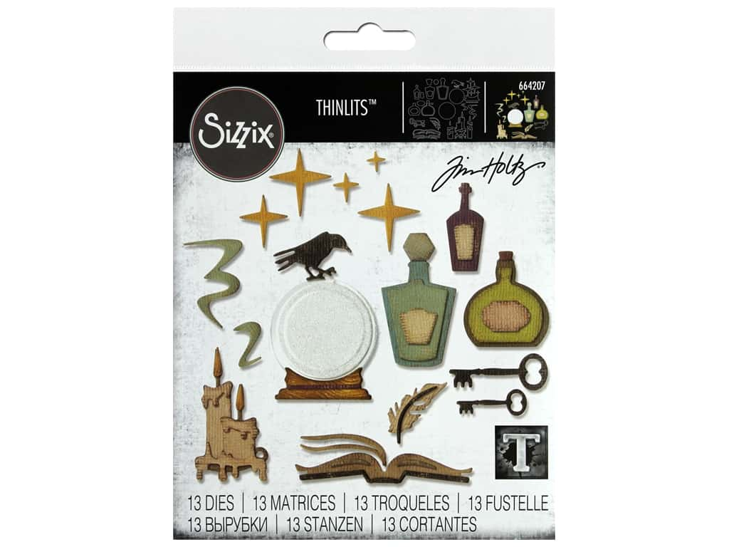 Sizzix Dies Tim Holtz Thinlits Regions Beyond