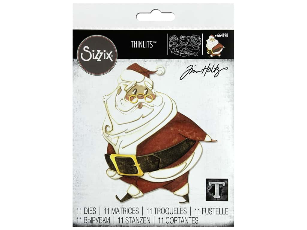 Sizzix Dies Tim Holtz Thinlits Jolly St Nick