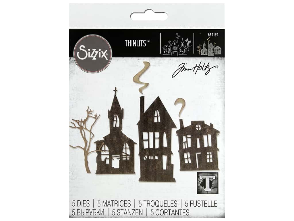 Sizzix Dies Tim Holtz Thinlits Ghost Town