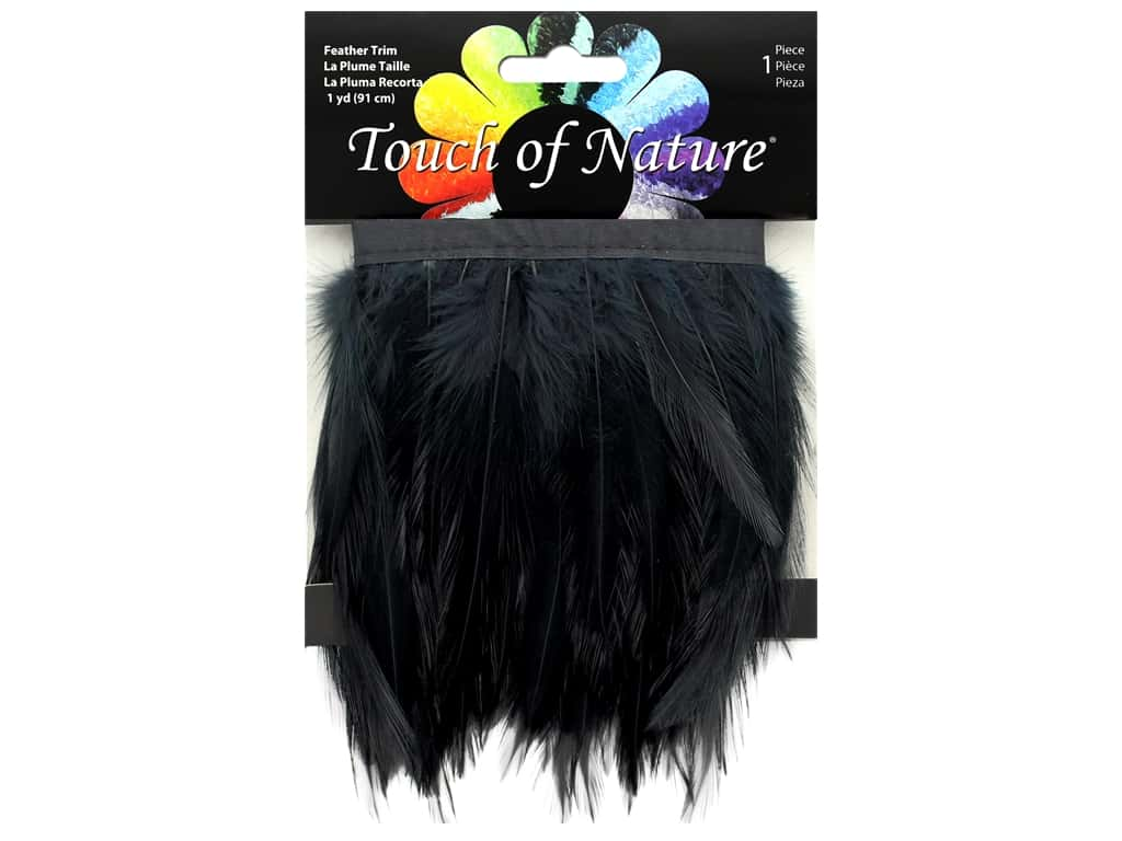 Midwest Design Feather Stitched Hackle 36 in. Black