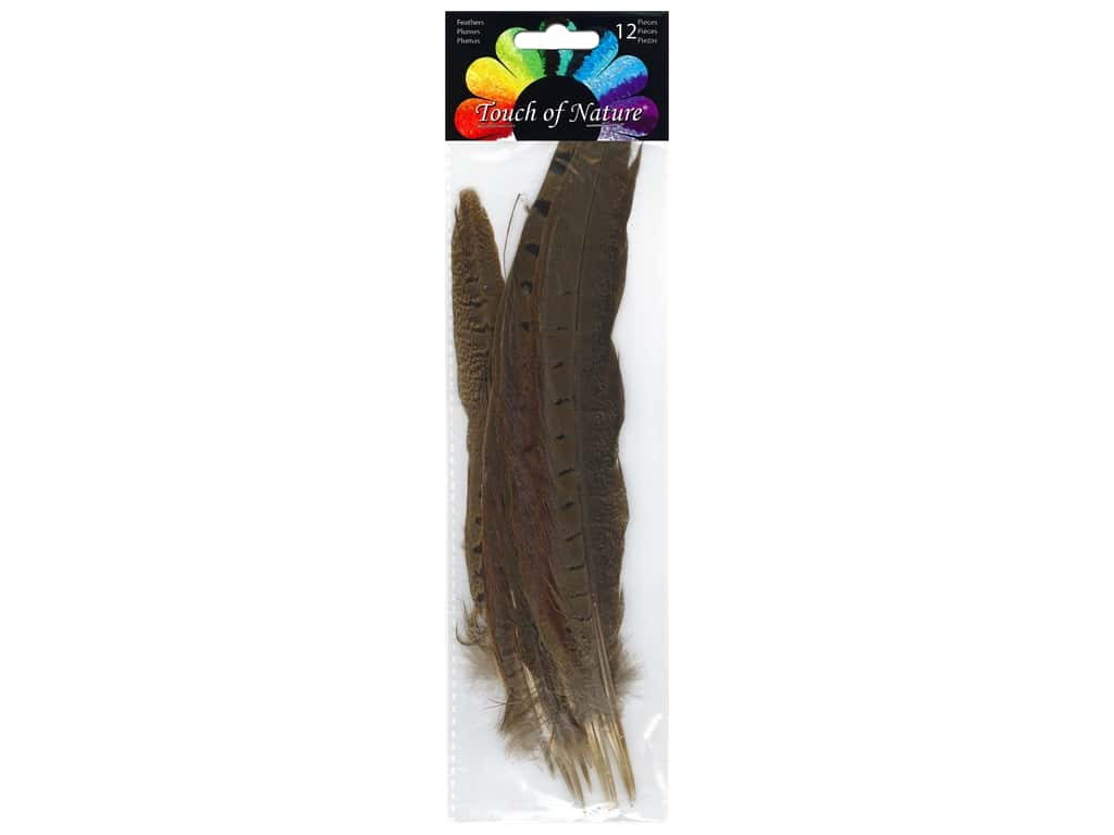 Midwest Design Feather Pheasant Ringneck 6 in. -10 in. 12 pc