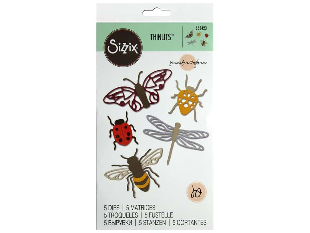 Sizzix Jennifer Ogborn Thinlits Die Set 8 pc. Insects